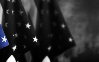 multiple US flags
